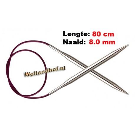 KnitPro Rondbreinaald Nova (metaal) 80 cm 8,0 mm
