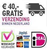 Vanaf 40 Euro gratis verzonden binnen NL!